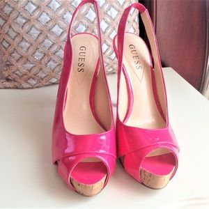Hot Pink Ladies Guess Heels Size 7